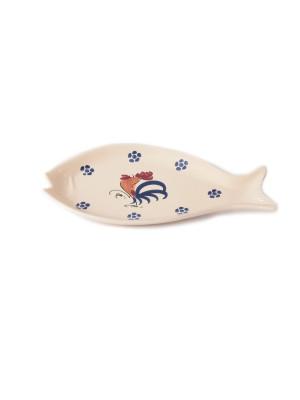 Piatto da portata a forma di pesce Smalto Gallo