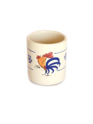 Bicchiere in terracotta senza manico Smalto Gallo