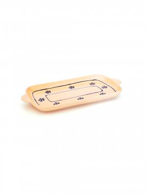 Vassoio rettangolare con manici Smalto Stelle