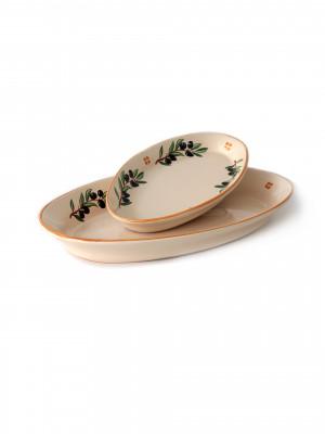 Piatto ovale Smalto Olive