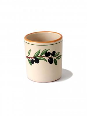 Bicchiere in terracotta senza manico Smalto Olive